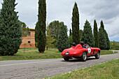 Ferrari, 166 MM/53, model 1953, Mille Miglia, 1000 Miglia, Tuscany, near San Quirico d'Orcia, Tuscany, Italy, Europe