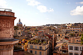 View across Rome from the window of Hotel Fiori, Rome, Lazio, Italy