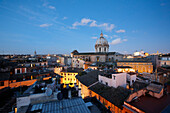 View from Hotel de Fiori over the city of Rome, Latio, Italy