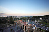 View from the Grand Hotel Flora towards the city of Rome, Rome, Latio, Italy