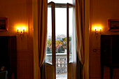 View out of the window of Grand Hotel Flora, Rome, Latio, Italy