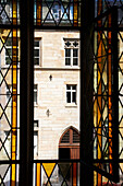 View through a window, Erfurt, Thuringia, Germany