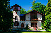 Casino, Roseninsel, Feldafing, Starnberger See, Upper Bavaria, Bavaria, Germany