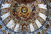 Dome of the abbey church, Ettal, Upper Bavaria, Bavaria, Germany