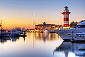 Harbour Town at dusk on Hilton Head Island, South Carolina Hilton Head Island, South Carolina, USA