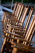 Rocking chairs on deck in Rockport, Massachusetts, Rockport, MA, USA