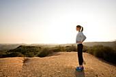 Female enjoying healthy lifestyle in Los Angeles, California, Pacific Palisades, California, USA
