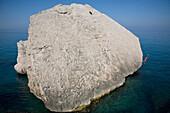 Woman leaps into the ocean, Sardinia, Italy, Sardinia, Italy