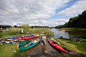 Canoe and kajak tour, Ahrensberg, Mecklenburgische Seenplatte, Mecklenburg-Vorpommern, Germany
