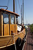 Fisch trawler, Bodden, Wieck, Fischland-Darss-Zingst Mecklenburg-Vorpommern, Germany