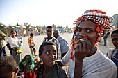 Teenagers at a long-distance bus station, Hawzien, Tigray Region, Ethiopia