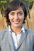 Portrait of Hispanic businesswoman outdoors, Vancouver, Canada