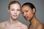 Multi-ethnic women with bare shoulders, Richmond, VA