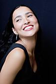 Glamorous, Hispanic woman smiling, Seattle, WA