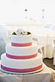 Close up of wedding cake, Seattle, WA