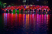 Colorful Vietnamese bridge, Hanoi, Vietnam