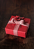 Berries on Christmas gift, Los Angeles, California, United States