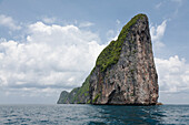 Large rock formation in ocean, Ko Phi Phi, Krabi, Thailand