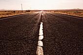 Road in remote area, Barstow, California, United States