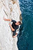 Deep-water soloing, Pula, Istria, Croatia
