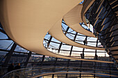 People visiting the Reichstag dome, Berlin, Germany
