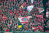 Allianz Arena, football game, FC Bayern against Schalke 04, South Curve, Munich, Upper Bavaria, Bavaria, Germany