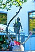 Karl Valentin fountain on Viktualienmarkt, Munich, Upper Bavaria, Bavaria, Germany