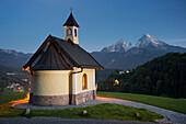 Chapel at Lockstein, Berchtesgaden, Watzmann, Berchtesgadener Land, Bavaria, Germany