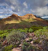 El Gigante mountain near Arteara, Gran Canaria, Canary Islands, Spain