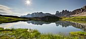 Paternkofel, Bodenseen lake, South Tyrol, Dolomites, Italy