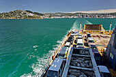 Ferry with cars and sheep, Cook Strait, Wellington, North Island, New Zealand