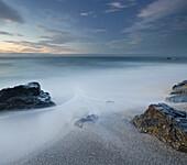 Rocks on the beach at Ship Creek, West Coast, Tasman Sea, South Island, New Zealand