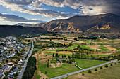 Golf course near Arrowtown, Otago, South Island, New Zealand