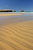 Sandy beach at Tautuku Bay, Otago, South Island, New Zealand