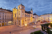 Schottenkirche parish church in the evening light, Freyung, 1st district, Inner City, Vienna, Austria