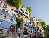 Hundertwasserhaus House, concept by Austrian artist Friedensreich Hundertwasser, 3rd District, Vienna, Austria