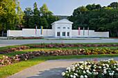 Rosarium, Rose beds, Doblhoff park, Baden near Vienna, Lower Austria, Austria
