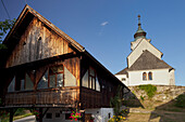 Farmhouse, Sternberg church, Carinthia, Austria