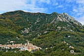 Mountain village, Antona, Apuan Alps, Tuskany, Italy