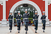 Changing of the Guard outside National Revolutionary Martyrs' Shrine, Taipeh, Northern Taiwan, Taiwan