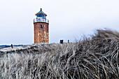 Leuchtturm Kampen, Quermarkenfeuer, Rotes Kliff, Nordsee, Kampen, Sylt, Schleswig-Holstein, Deutschland