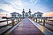 Sellin pier in the morning light, Sellin, Isle of Ruegen, Baltic Sea, Mecklenburg-Vorpommern, Germany