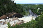 Ouiatchouan Falls, Val- Jalbert, Province of Quebec, Canada