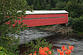 Covered bridge, Saguenay-St. Lawrence Marine Park, Province of Quebec, Canada