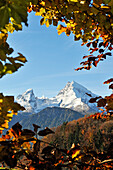 The Watzmann massif with Watzmann, Watzmannfrau and Watzmannkinder, Berchtesgadener Land, Upper Bavaria, Germany