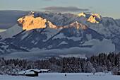 Wilder Kaiser range, Reit im Winkl, Chiemgau, Bavaria, Germany