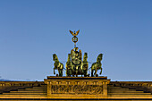 Quadriga on the top of the Brandenburg gate in Berlin, Germany