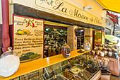 La Maison de l' Olvie, Gourmet Shop, Olives, Nice, Alpes Maritimes, Provence, French Riviera, Mediterranean, France, Europe