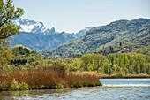 Lake, Lago di Piano, near Porlezza, Province of Como, Lombardy, Italia