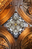 Vault and tower of Canterbury cathedral, Canterbury, Kent, England, Great Britain